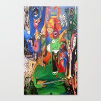 persona Canvas Prints featuring Personified Persona  by Hannah Williams