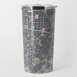 Madrid city map engraving Travel Mug
