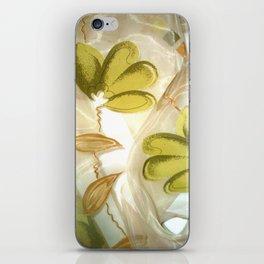 textile / flower / green  iPhone Skin