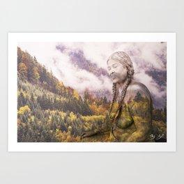 Pine Eagle Mama Art Print