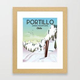 Portillo Ski Chile Ski travel poster. Framed Art Print