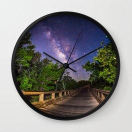 Galactic Boardwalk Wall Clock