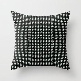 Dots (Shadowed) - White x Sage Throw Pillow