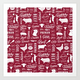 Butchery Meat Lovers Art Print