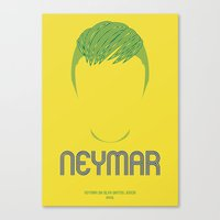 neymar Canvas Prints featuring NEYMAR by SixPointer