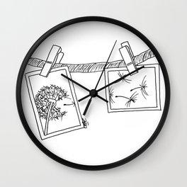 Dandelion in photos Wall Clock