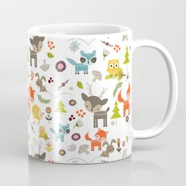 Cute Woodland Creatures Pattern Coffee Mug