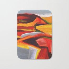 The Present Abstract Landscape Bath Mat