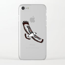 The Hawk's Flight_ Cerulean Clear iPhone Case