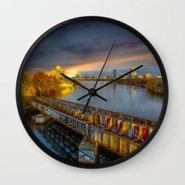Graffiti bridge Wall Clock