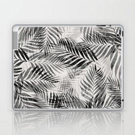 Palm Leaves - Black & White Laptop & iPad Skin