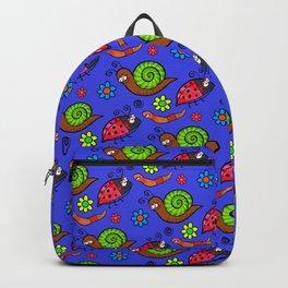 Cartoon Garden Bugs Backpack