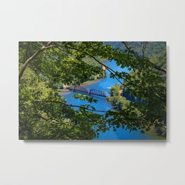 Hawks Nest Overlook, Ansted, West Virginia Metal Print