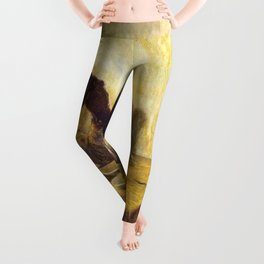 African American Masterpiece 'The Thankful Poor' by Henry Ossawa Tanner Leggings
