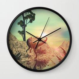 Dilophosaurus Wall Clock