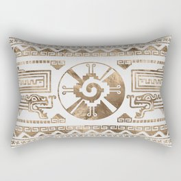 Hunab Ku Pastel gold Rectangular Pillow