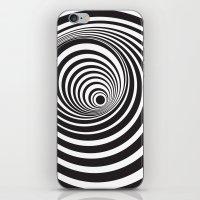 vertigo iPhone & iPod Skins featuring Vertigo by General Design Studio