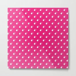 HOT PINK & WHITE BOMB DIGGITYS ALL OVER LARGE Metal Print