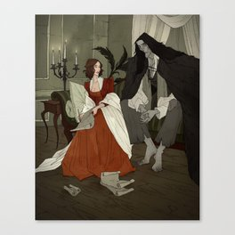Mary Shelley and Her Creation Canvas Print