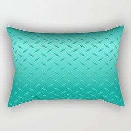 Teal Diamond Plate Rectangular Pillow