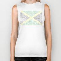 jamaica Biker Tanks featuring digital Flag (Jamaica) by seb mcnulty