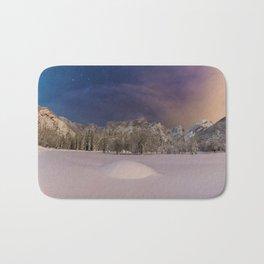 Aurora Sunrise in Snow Antarctica (Color) Bath Mat