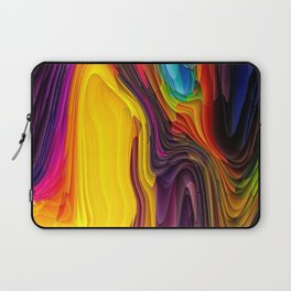 Melting Pot of Colors Abstract Laptop Sleeve