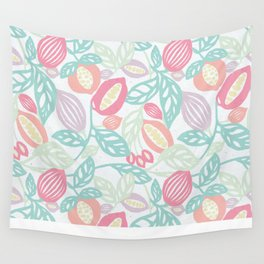 Pastel Fruits Wall Tapestry
