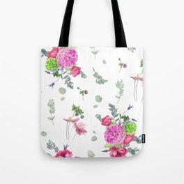 Hydrangeas and anemones Tote Bag