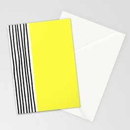Stripes & Rays Of Sunshine Yellow Stationery Cards