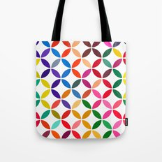 abstract round shapes background circle geometry illustration Tote Bag