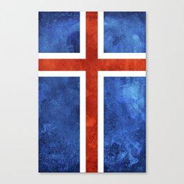 Icelandic Flag Canvas Print