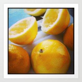 Spent Lemons Art Print