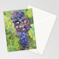 Grapes Watercolor Fruit Food Wine Lovers Stationery Cards
