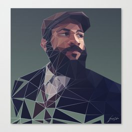 Polygonal Gentlemen Canvas Print