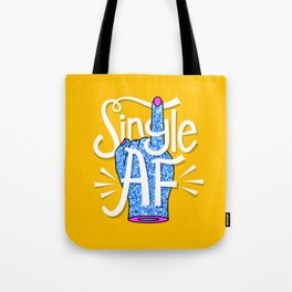 Single Ladies Glitter Hands Tote Bag