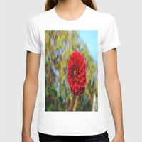 dahlia T-shirts featuring Dahlia by Renee Trudell