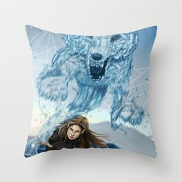 Feyre - Defender of the Rainbow Throw Pillow