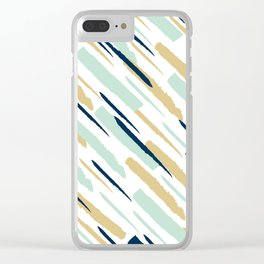 Diagonal strokes Clear iPhone Case