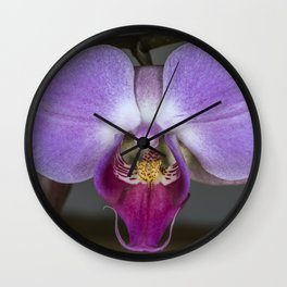 Purple Orchid Wall Clock