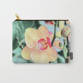 pretty yellow orchid flowers, botanical art Carry-All Pouch