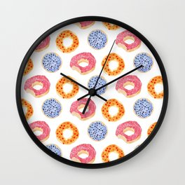sweet things: doughnuts Wall Clock