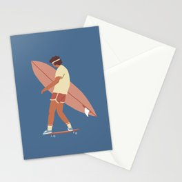 Surf poster Stationery Cards