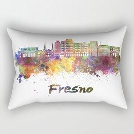 Fresno V2 skyline in watercolor Rectangular Pillow