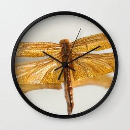 Gilt Dragonfly Wall Clock