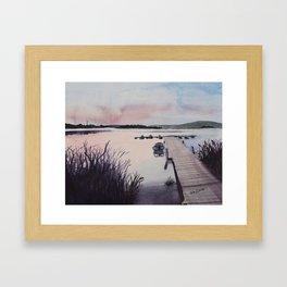 Dusky Dore Lake Framed Art Print