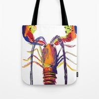 lobster Tote Bags featuring lobster by Urquhart