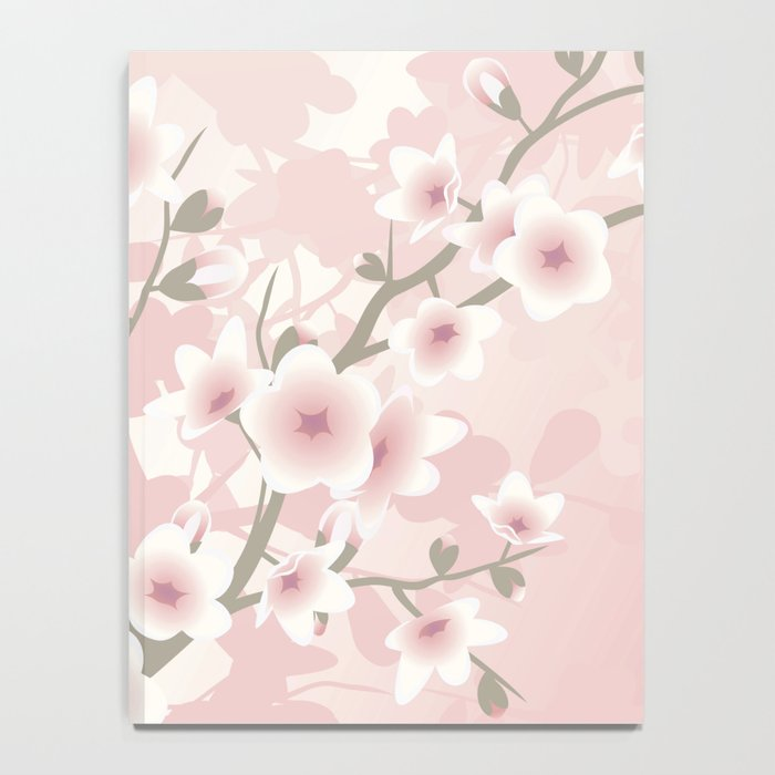 Vintage Floral Cherry Blossom Notebook