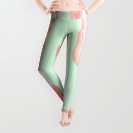 Cactus Stack Pink + Mint Leggings