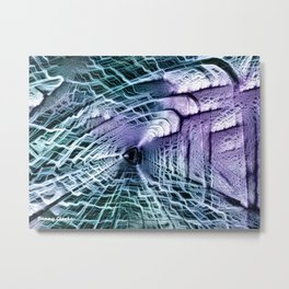 Time Traveler's Tunnel Metal Print
